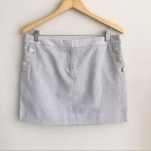 J. Crew Factory | Seersucker Skirt Sz. 10 NWT